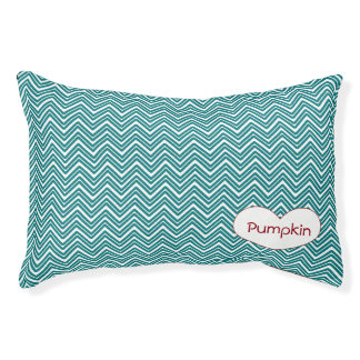 Personalized Teal Chevron