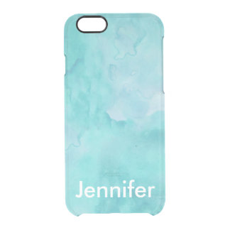 Personalized Teal Watercolor iPhone 6/6s Case