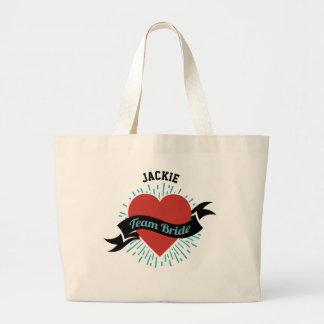Personalized Team Bride Jumbo Tote Bag