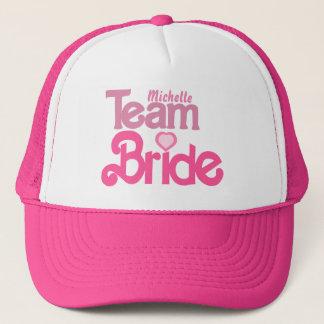 Personalized team bride trucker hat