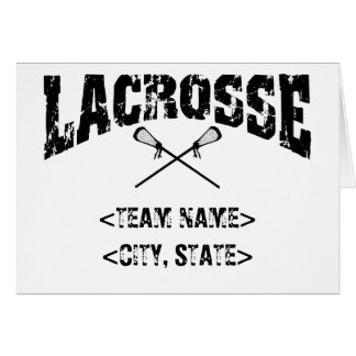 Personalized Team City State Lacrosse T-Shirts Greeting Card