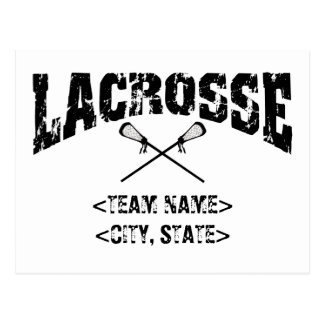 Personalized Team City State Lacrosse T-Shirts Postcards