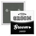 Personalized Team Groom Groom Button