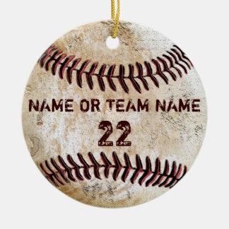Personalized Team Vintage Baseball Ornaments