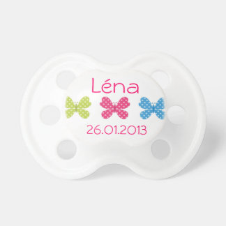 Personalized teat butterflies pacifiers