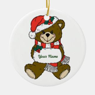 Personalized Teddy Bear Christmas Ornament
