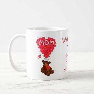 Personalized teddy bear mothers day basic white mug