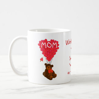 Personalized teddy bear mothers day coffee mug