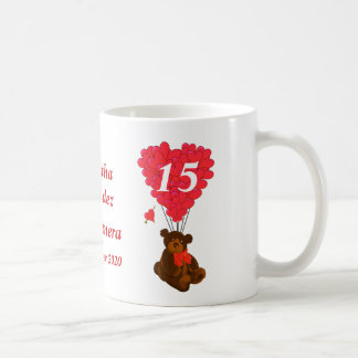 Personalized teddy bear Quinceanera Coffee Mug
