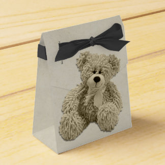 Personalized Teddy Bear Thank You Baby Shower Favour Box