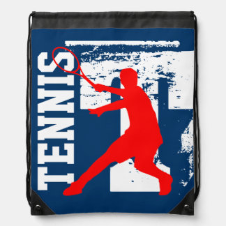 Personalized tennis bag | drawstring backpack