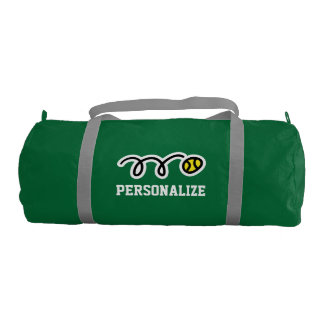 Personalized tennis bag for player and sport coach
