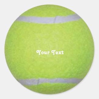 Personalized Tennis Ball Classic Round Sticker