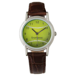 Personalized Tennis Ball Sports Women's Watch