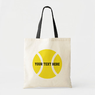 Personalized tennis ball tote bags