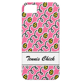 Personalized tennis chick iPhone 5 S case Barely There iPhone 5 Case