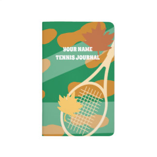 Personalized tennis coach pocket journal note book