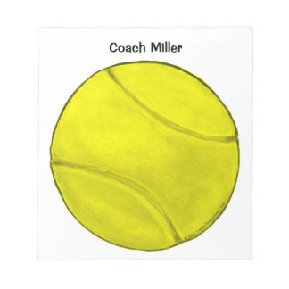Personalized Tennis Notepad