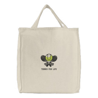 Personalized Tennis Rackets and Ball embroidered Embroidered Bag