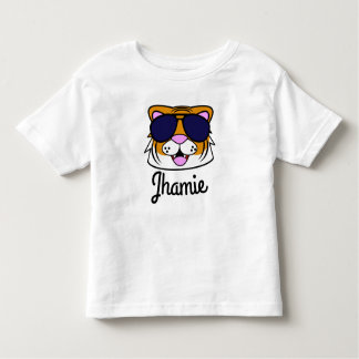 Personalized Terrific Tiger Toddler T-Shirt