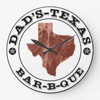 Personalized Texas BBQ Clock for Dad