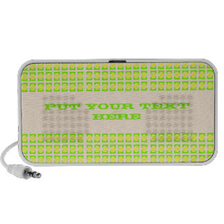 personalized text Green yellow pattern speaker
