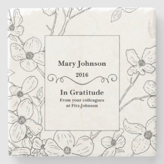 Personalized Thank You Gift Stone Coaster