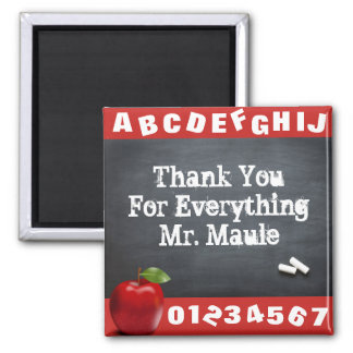 Personalized Thank You Teacher Magnet