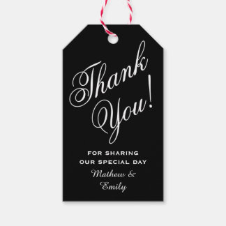 Personalized Thank You Wedding Favor Gift Tags