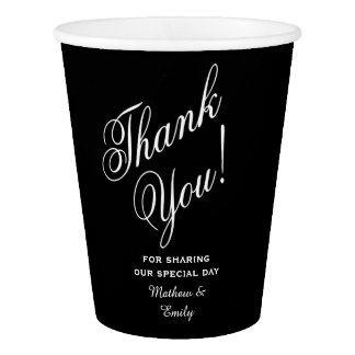 Personalized Thank You Wedding Favor Paper Cup