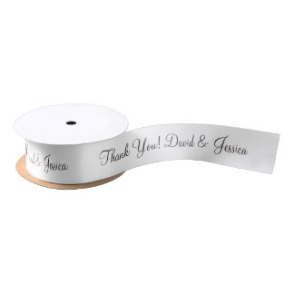 Personalized thank you wedding favor ribbon satin ribbon