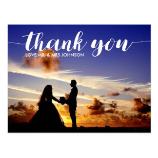 Personalized Thank You Wedding Postcard Note