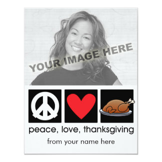 Personalized Thanksgiving Photo Cards 11 Cm X 14 Cm Invitation Card