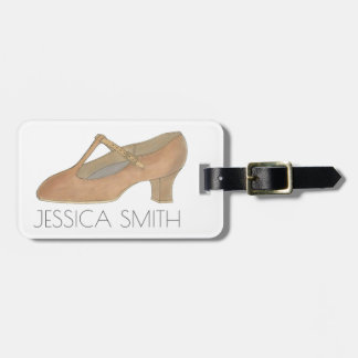 Personalized Theatre Character Shoe Dance Bag Tag