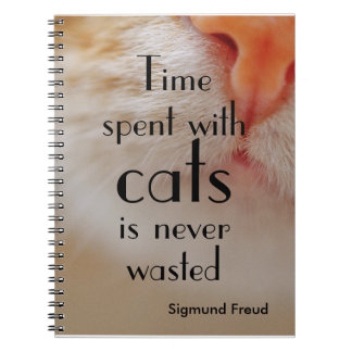 Personalized |Time spent with cats is never wasted Notebook