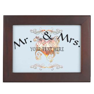 Personalized To People in Love Wedding Keepsake Box