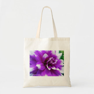 Personalized Tote Bag with Dahlia Macro photo