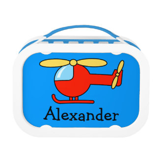 Personalized toy helicopter lunchbox for boy