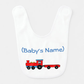 Personalized Train Baby Bib