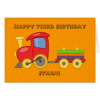 Personalized Train Birthday Card