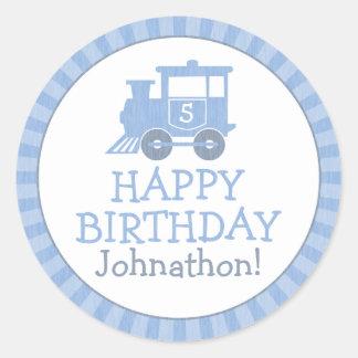 Personalized Train Kids Birthday Stickers