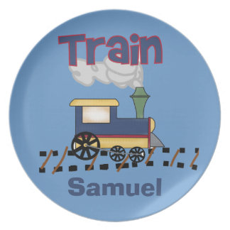 Personalized Train Kids Plate