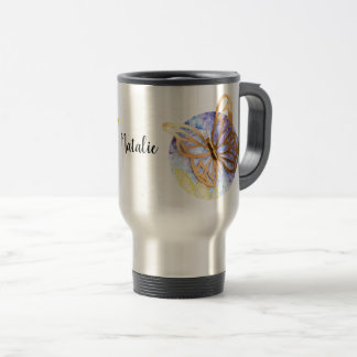 Personalized Travel Mug with Butterfly
