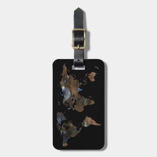 personalized travel world map luggage tag