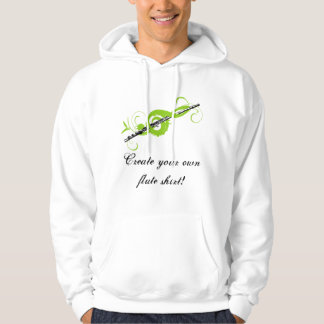 Personalized Treble Clef & Flute Hoodie