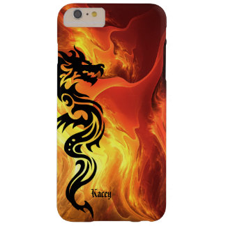 Personalized Tribal Dragon in Flames Barely There iPhone 6 Plus Case