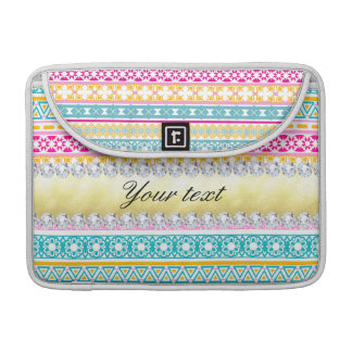 Personalized Tribal Pattern and Diamonds MacBook Pro Sleeves