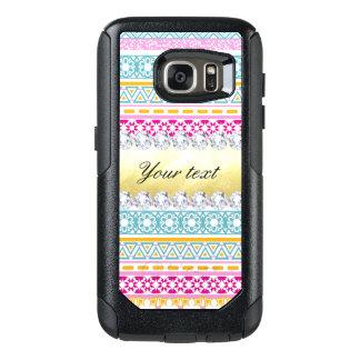 Personalized Tribal Pattern and Diamonds OtterBox Samsung Galaxy S7 Case