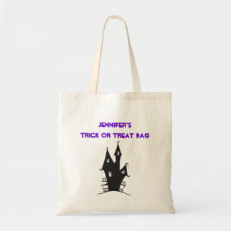 Personalized Trick or Treat Bag Budget Tote Bag