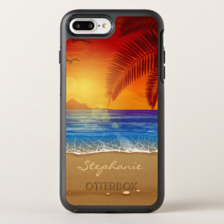 Personalized Tropical Beach Sunset | Phone Case